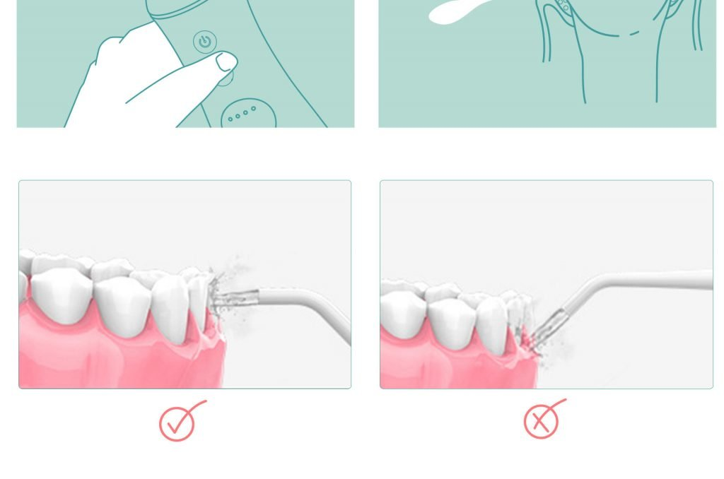 how to use cordless water flosser