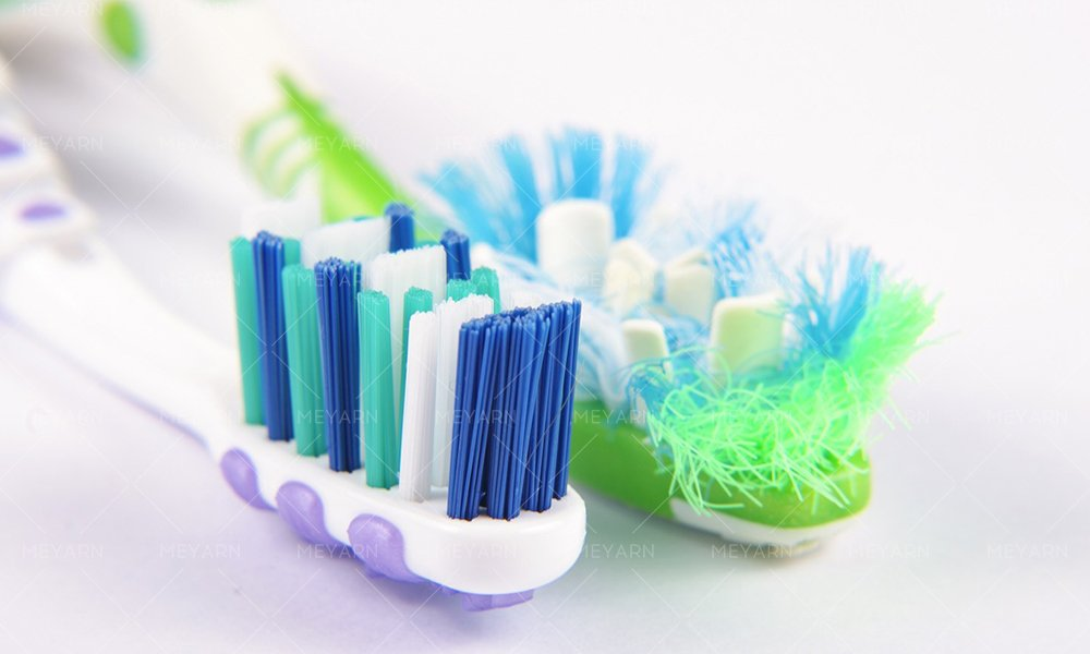 frayed toothbrush