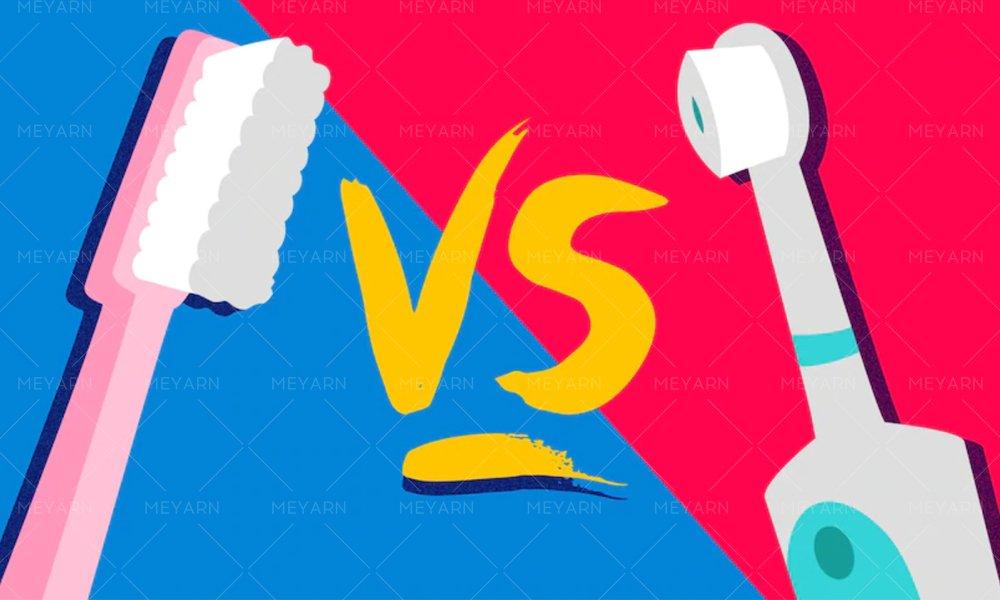 manual vs electric toothbrush