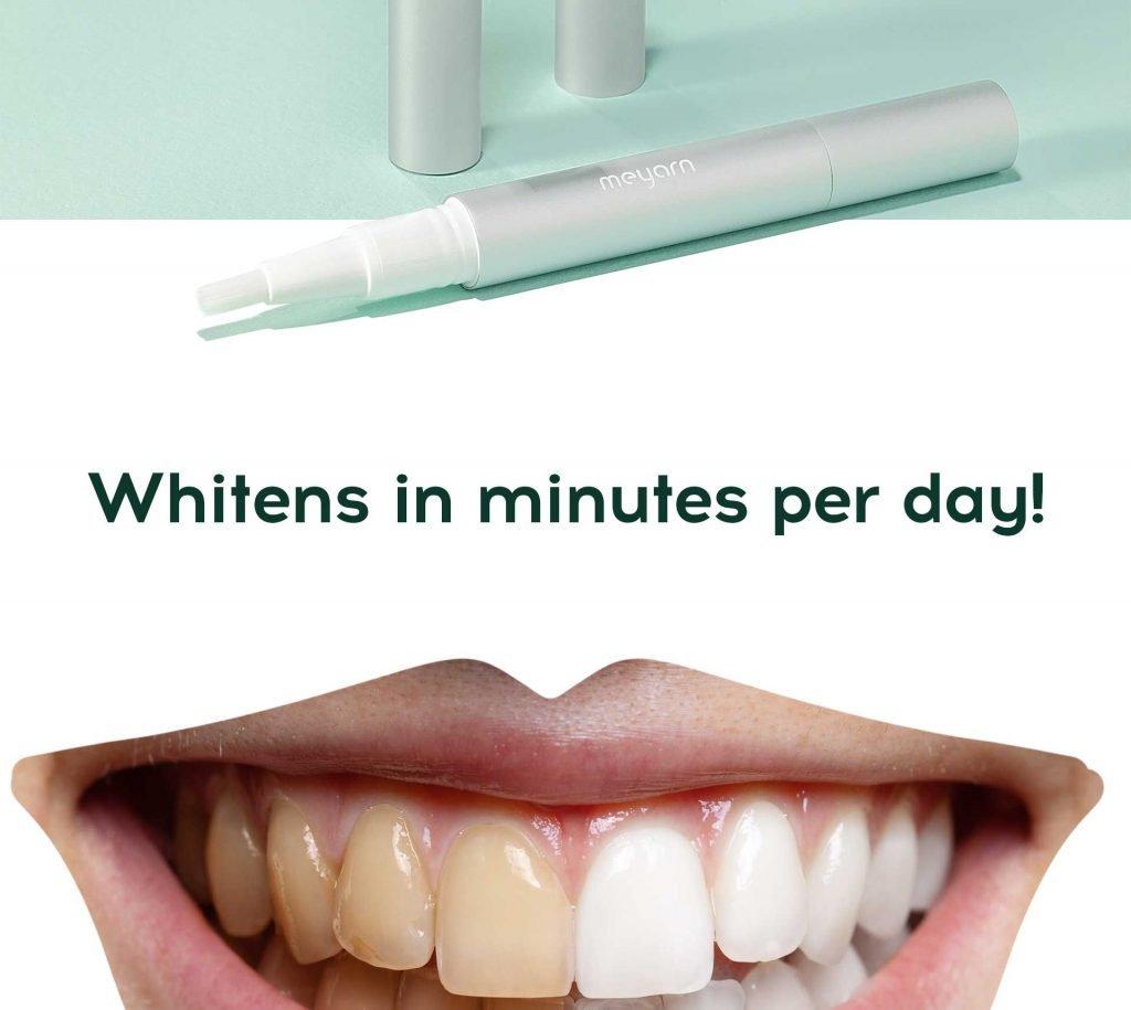 whiten in minuties per day